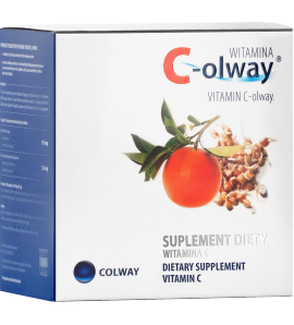 Colway Witamina C - odporność,  100 kapsułek