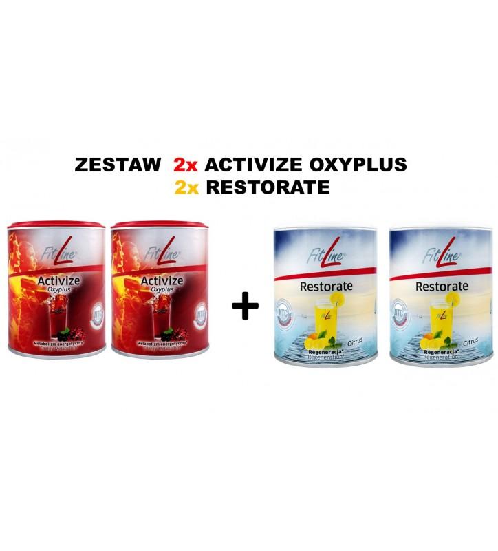 Fitline zestaw : 2x Activize OxyPlus + 2xRestorate