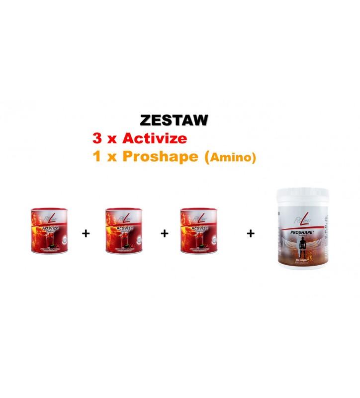 Fitline Zestaw Active Set  Aminokwasy Proshape Amino 3x Activize Oxyplus