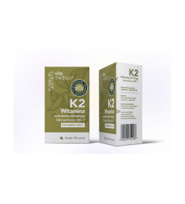 Witamina K2 Menachinon MK-7 krople 105 porcji