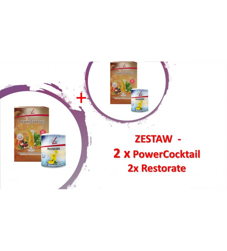 Fitline Optimal Set Family 2x PowerCocktail + 2x Restorate